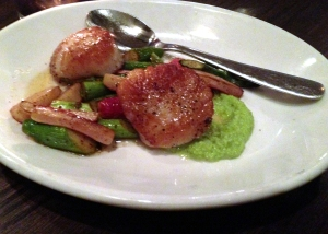 Scallops at The Savoy in Chicago