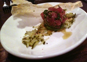 Tuna Tartare at The Savoy in Chicago